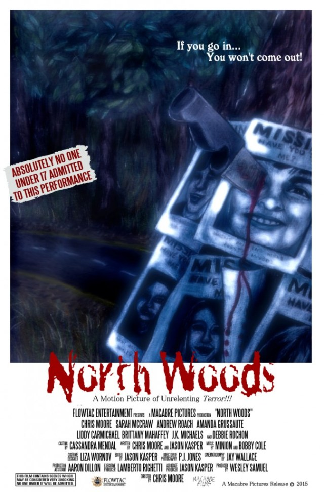 north woods poster1 674x1024 - Surprise! Here's a Gory New Clip from North Woods!