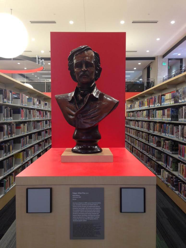 Edgar Allan Poe bronze bust (1)