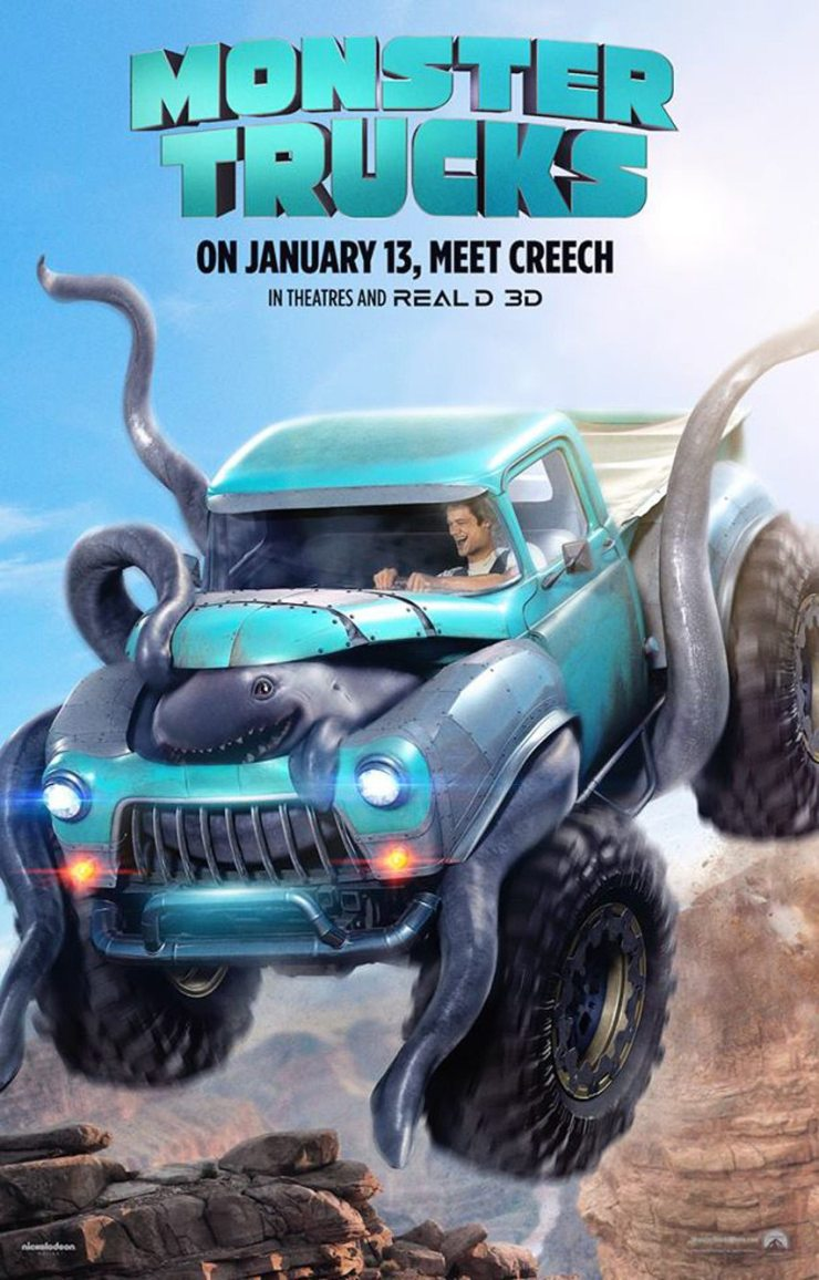 monstertrucks poster - New Monster Trucks Trailer Comes Riding In with Creech in Tow