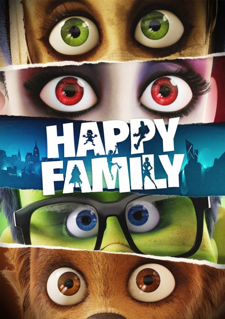 Happy Family Teaser poster - Turning Into Monsters Can Make You One Big Happy Family