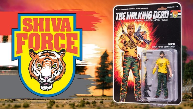 TWD Shiva Force Rick Character Promos - #SDCC17: The Walking Dead Explodes with Shiva Force Toy Set
