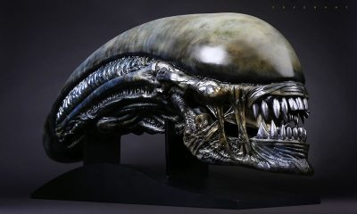 alien covenant xenomorph life size head prop replica cool props 903191 12 - Sideshow Toys Reveal Xenomorph 1:1 Bust, Beautiful Cthulhu Statue, and Bioshock 1/6th Scale Figure