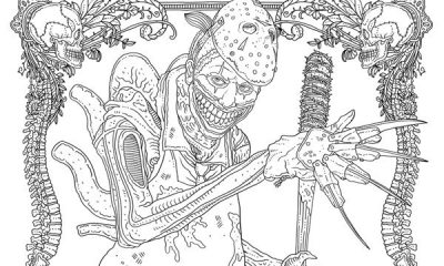 AlanRobert FREE Horror Mashup s - IDW Releases Two Free Monster Mash-Up Coloring Pages from Alan Robert