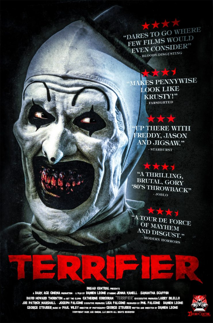 terrifier final poster - Terrifier - Dread Central Presents Poster Premiere! Release Date Announced!