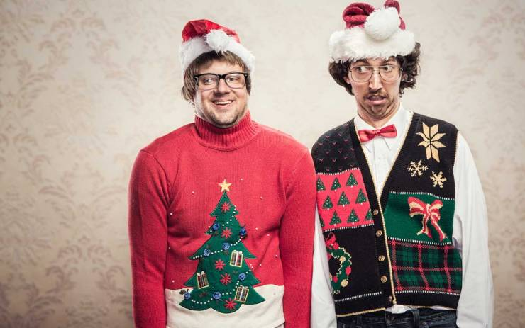 ugly christmas sweaters - 10 Truly Wacky Xmas Facts, Happenings and Traditions