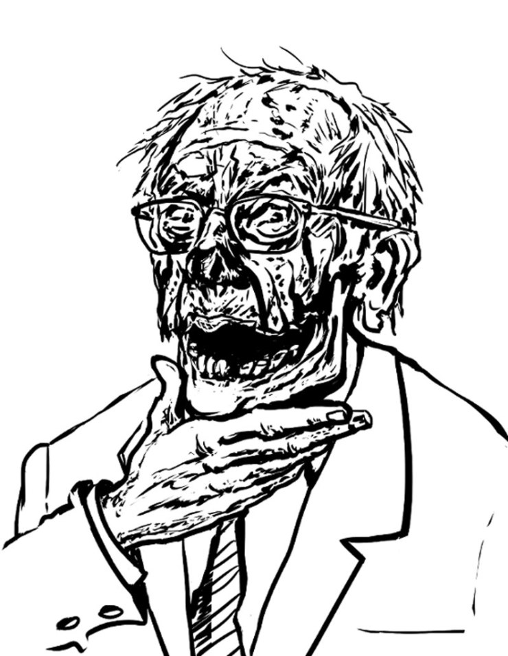 zombie bernie sanders - Adult Coloring Book Zombie Politicians Arriving Just in Time for the Holidays