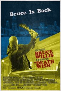 Death Wish 203x300 - Bruce is Back in Bitchin' New Retro Poster for Eli Roth's Death Wish Remake