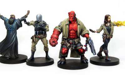 hellboy board game minatures 1 - HELLBOY: THE BOARD GAME Reached its Kickstarter Goal in Eighteen Minutes