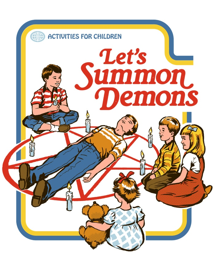 Lets Summon Demons - This Australian Artist is Putting a Morbidly Funny Spin on 70s Nostalgia