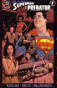Superman vs Predator 194x300 - Comic Book Superheroes You Had No Idea Battled The PREDATOR