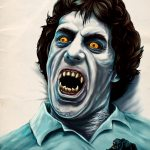 """Rue Morgue American Werewolf cover Issue 93 - Exclusive Interview with Renowned Horror Artist """"Ghoulish"""" Gary Pullin"""