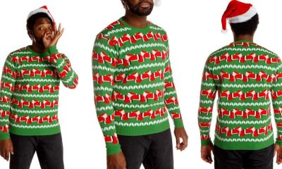 Human Santapede - HUMAN SANTAPEDE is the Best/Worst Ugly Christmas Sweater in History!