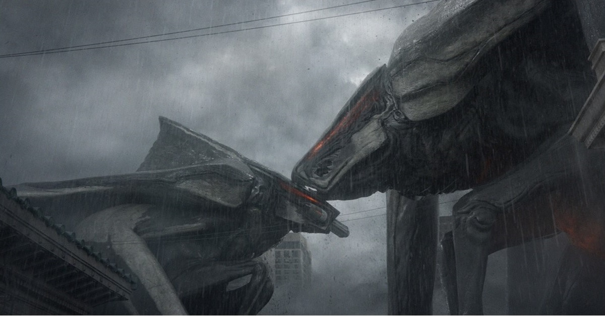 head of decapitated muto from godzilla 2014 spotted in latest king