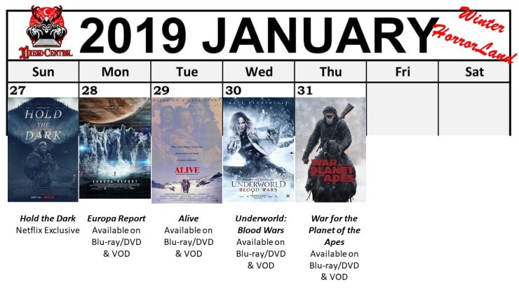 January 2019 Week 5 - Winter HorrorLand: Dread Central's 31-Day Movie Challenge for January 2019