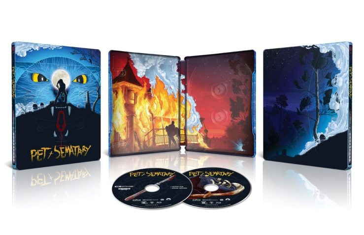 Pet Sematary Reissue - Standard & Steelbook Cover Art + First Special Features for PET SEMATARY 30th Anniversary 4K Ultra HD Reissue