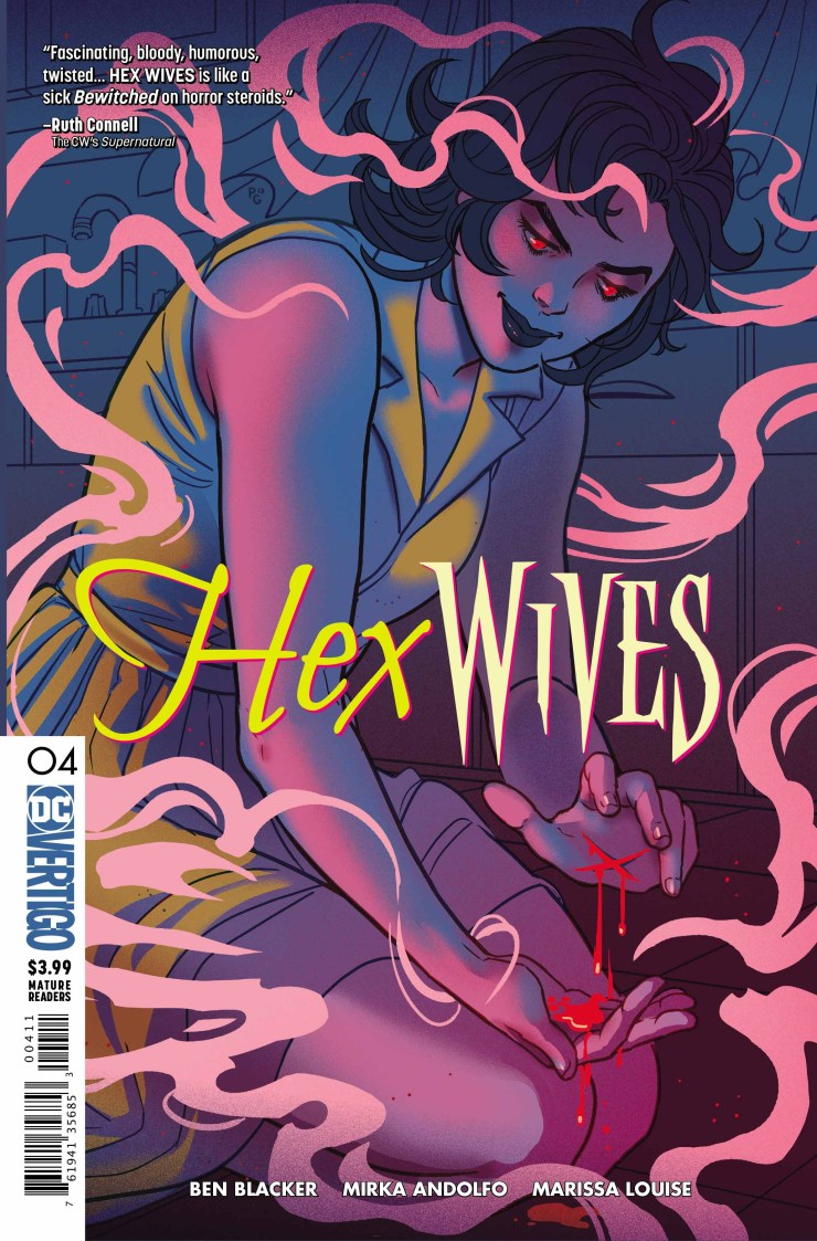 hexwitchesissue4 cover - Exclusive HEX WIVES Issue #4 Preview Goes For a Flight
