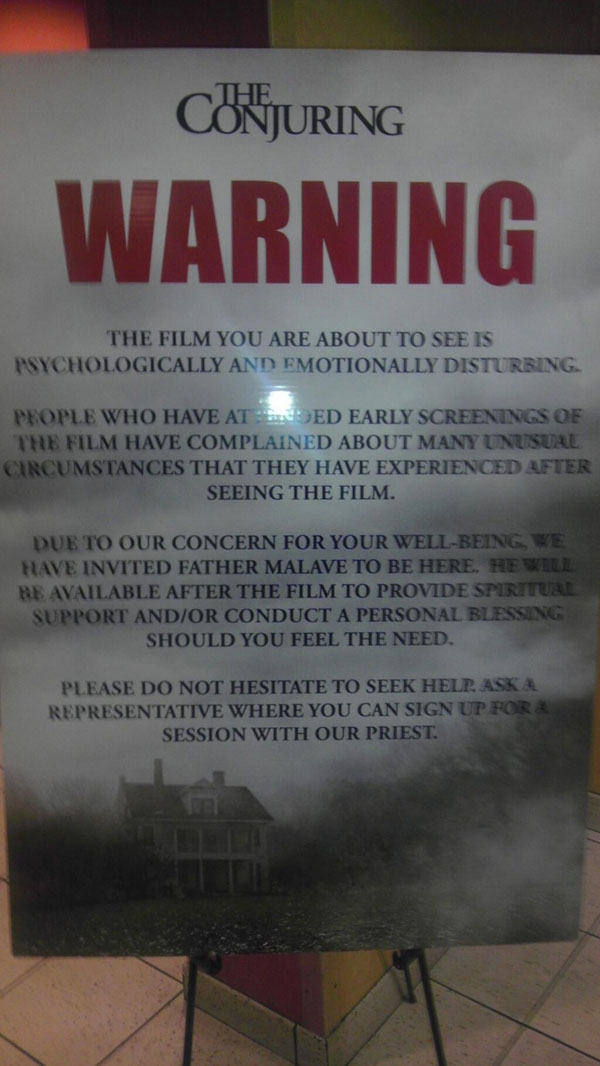 conjuring chicago - Chicago Screening of The Conjuring Comes Complete with a Priest and a Warning!