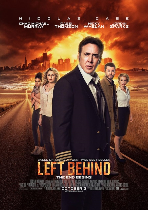 leftbehind - This New Left Behind Poster Finds Nicolas Cage At His Most Pensive