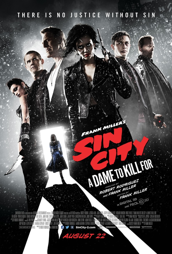 sin city a dame to kill for poster - #SDCC14: New Sin City: A Dame to Kill For Red Band Trailer Is to Die For