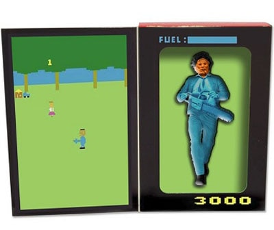 videogame 9 - Freddy in Space Gives the Atari Versions of Michael Myers and Leatherface the Action Figure Treatment!