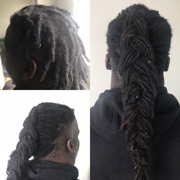 Black dreadlocks, black dreadlock maintenance, dread braid
