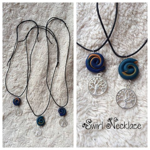 Swirly Life Necklaces