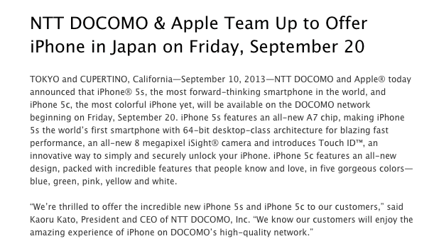 Apple_-_Press_Info_-_NTT_DOCOMO___Apple_Team_Up_to_Offer_iPhone_in_Japan_on_Friday__September_20