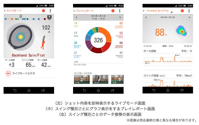 Sony_Japan___ニュースリリース___テニスショットを即時分析、見て・楽しみ・上達にもつなげられる Smart_Tennis_Sensor