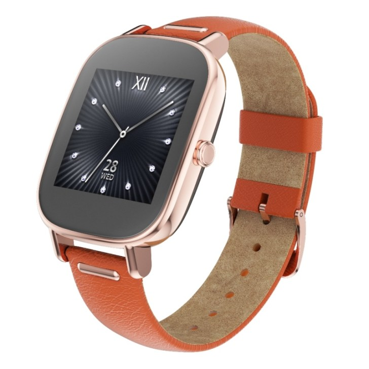 ASUS ZenWatch 2 (WI502Q)_Rose-gold + Lether strap