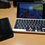 GPD PocketにGalaxy S8+の指紋センサでログインしてみる