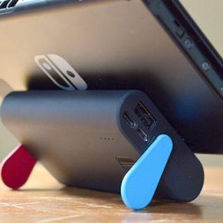 Nintendo Switchを置いて充電しながらプレイできるモバイルバッテリ、サンコーレアモノショップが販売