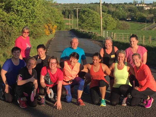 Jolly Joggers jogscotland group after hill sprints in the sun