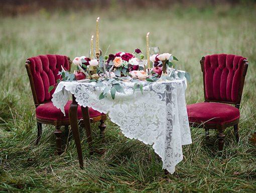 Pon terciopelo en tu boda y triunfa.