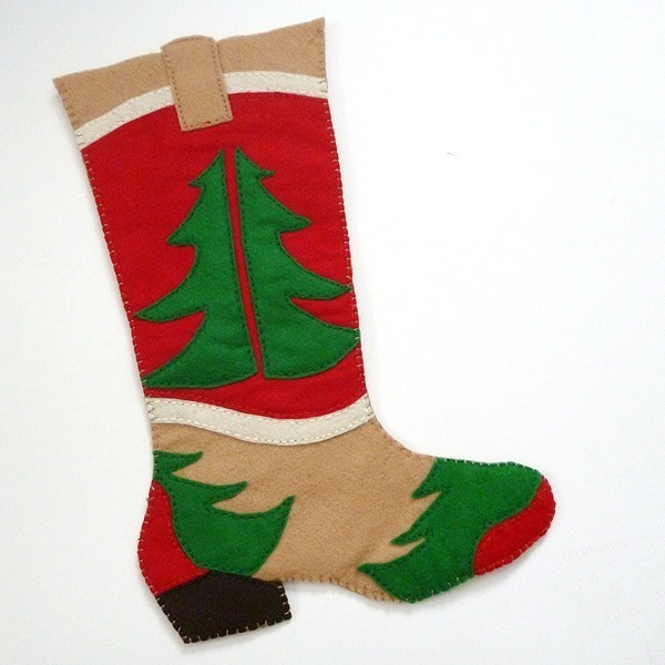 Free Cowboy Boot Christmas Stocking Pattern Dream A