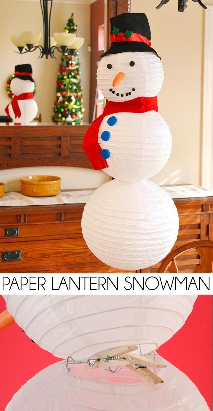 Paper Lantern Snowman Tutorial Dream A Little Bigger