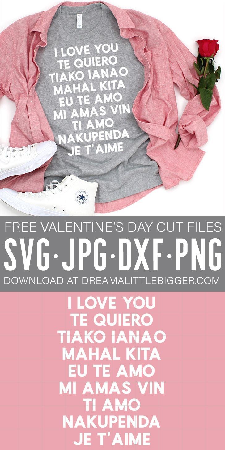 Download I Love You Valentine SVG File ⋆ Dream a Little Bigger