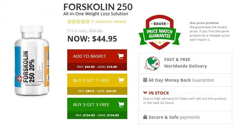 Buy Forskolin 250 online