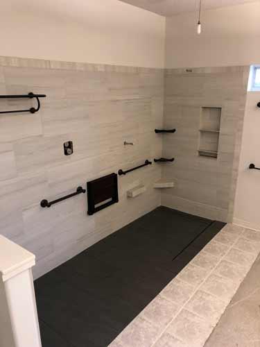 custom bath and shower tile