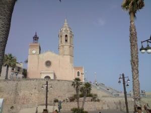 Die bekannte Kirche der Strandstadt