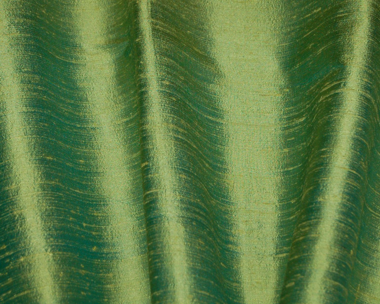 Apple Green Silk Dupioni Drapes