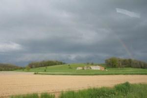 Rainbow Out a Car Window