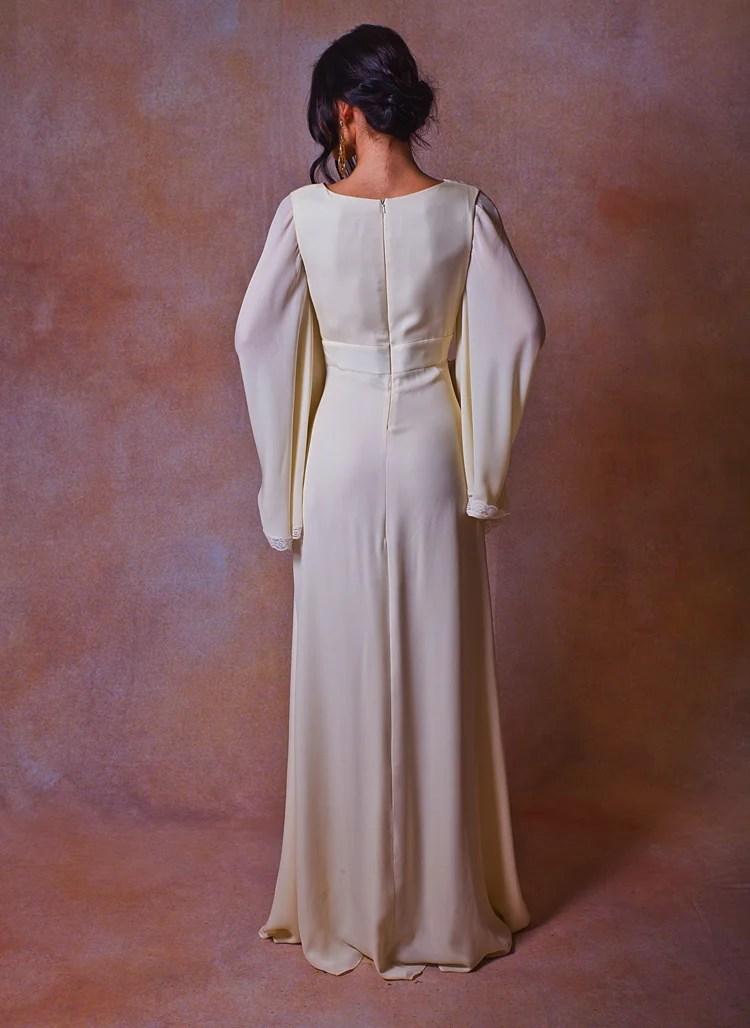 Celine Chiffon Bohemian Wedding Dress Dreamers And Lovers