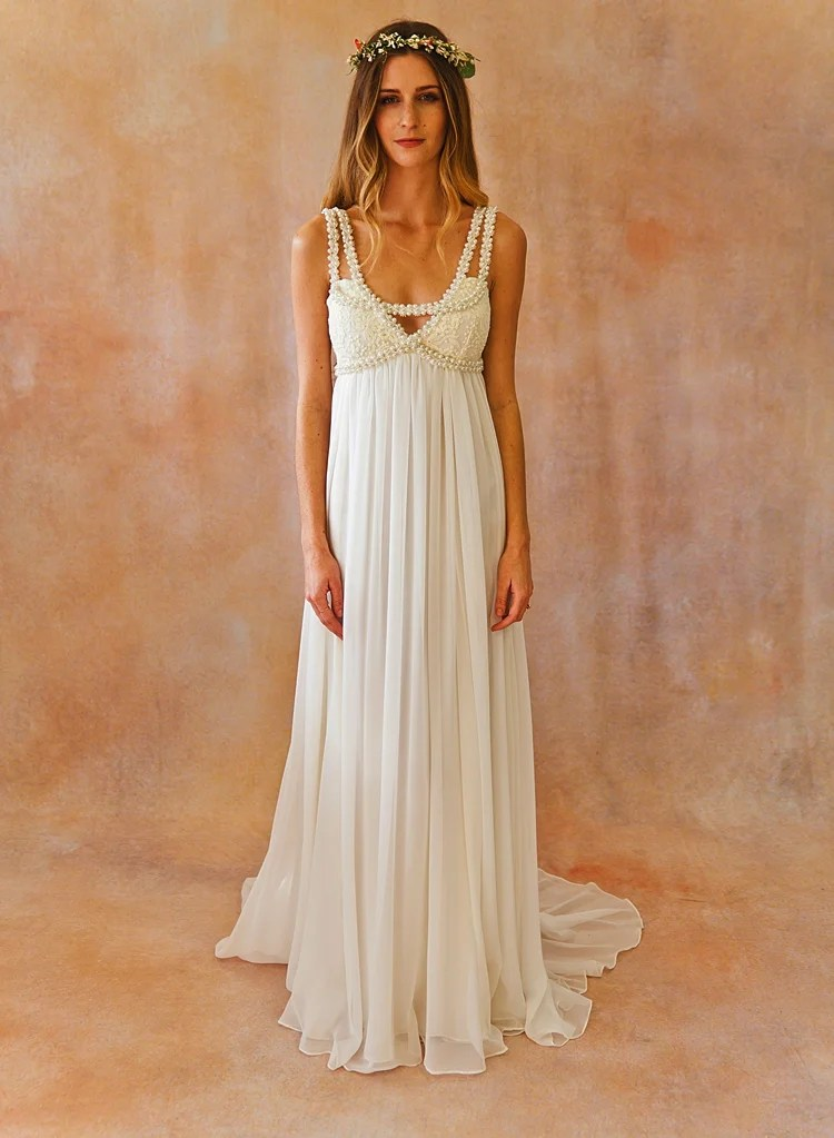 Embellished Bohemian Wedding Dress Dreamers And Lovers
