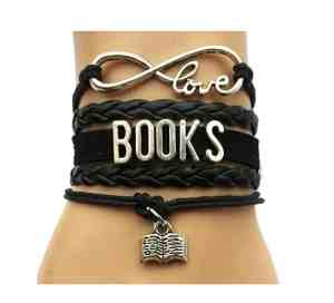 Gifts for writers - book bracelet