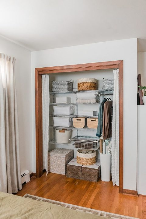 how to upgrade your guest room closet
