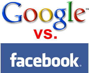 google vs facebook social media