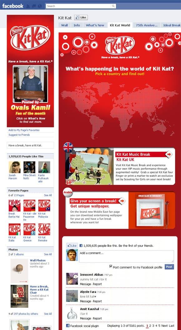 Kit Kat Facebook Page