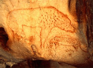 20,000 year old cave painting. Perhaps the artist was blogging about what happened that day.