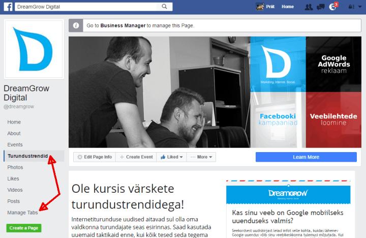 facebook landing page app complete