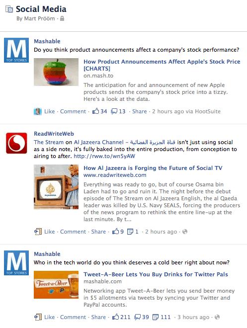 facebook interest list newsfeed